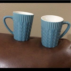 "🦋New Listing🦋""Cable Knit"" Coffee  or Tea Mugs"